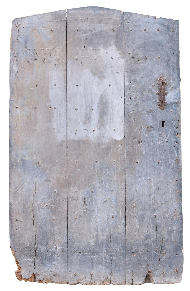 18th Century and Earlier 17th Century English Exterior Elm Plank Door For Sale