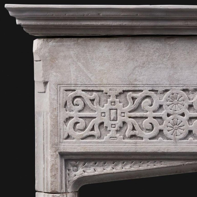 17th Century English Jacobean Portland Stone Antique