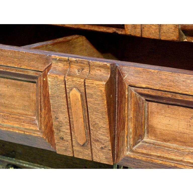 Mid-17th Century 17th Century English Oak Chest For Sale