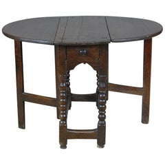 17th Century English Oak Gate Leg Table