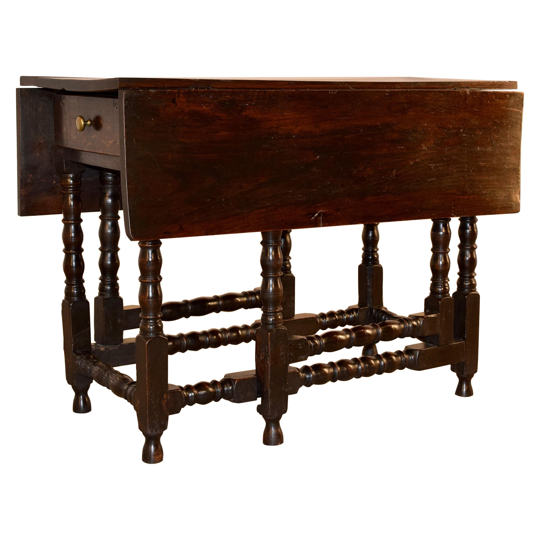 17th Century English Oak Gateleg Table
