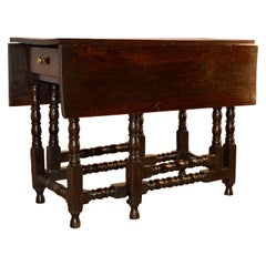 17th Century English Oak Gateleg Table