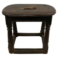 17th Century English Oak Joint Stool / Bench