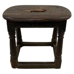17th Century English Oak Joint Stool / Bench