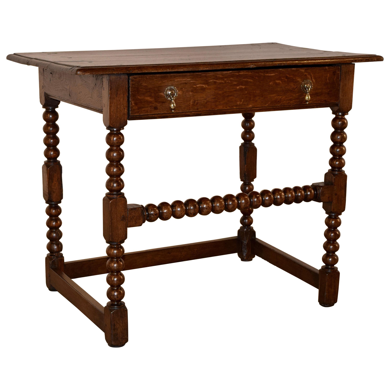 17th Century English Oak Side Table
