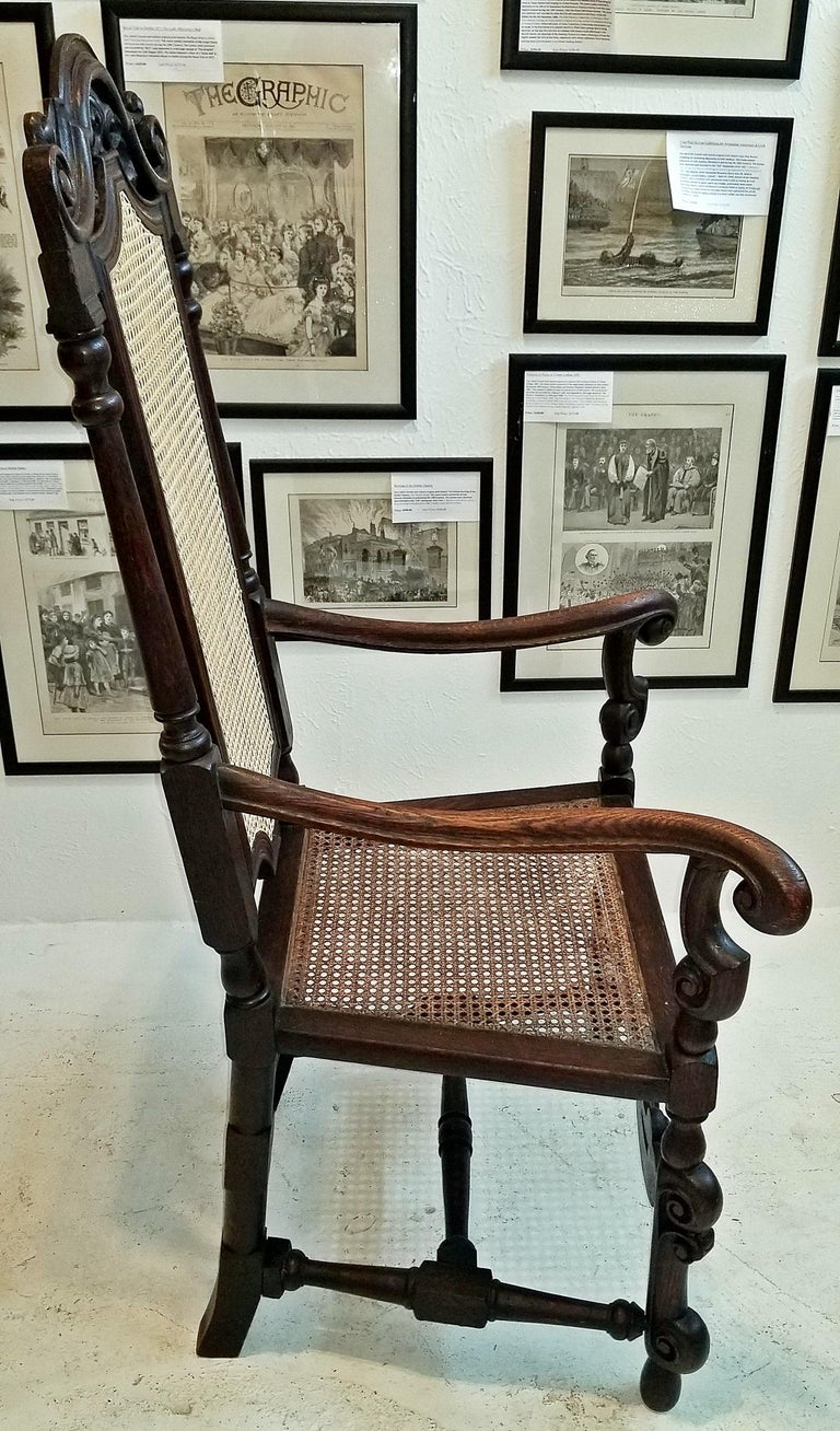 Presenting a beautiful and extremely rare english William & Mary armchair……17th century, circa 1690.