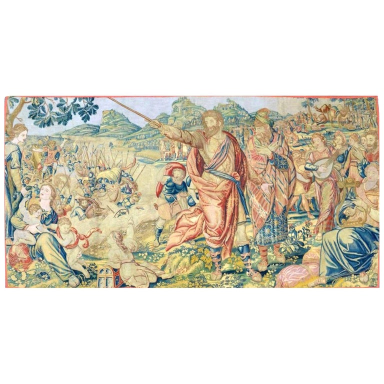 """17th Century Fine Tapestry of Bruxelles """"Moses and the Crossing of the Red Sea"""" For Sale"""