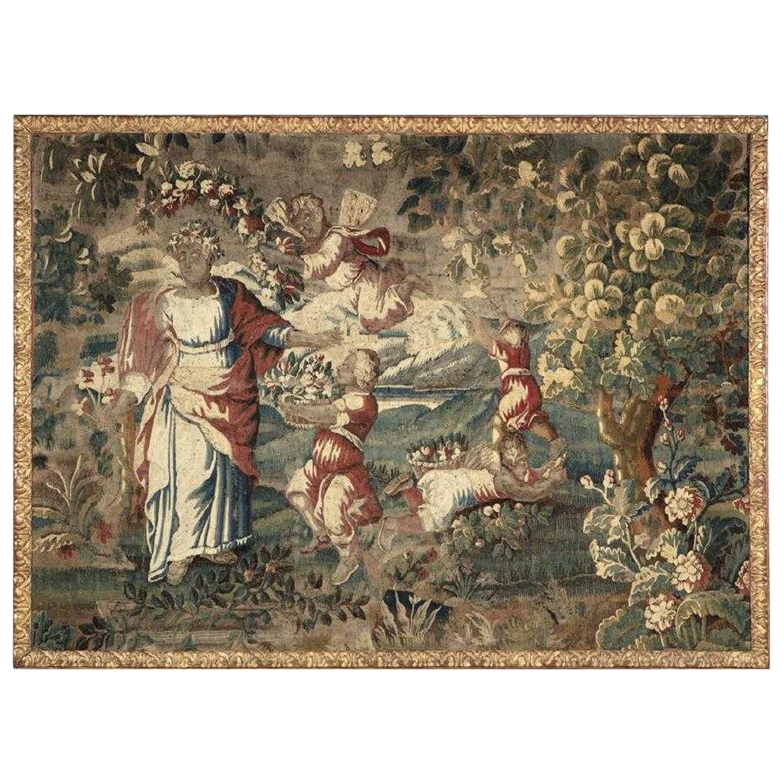 17th Century Flemish Baroque Framed Tapestry