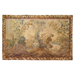 17th Century Flemish Chinoiserie Landscape Tapestry, with a Heron by a Lakeside