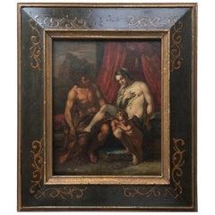 17th Century Flemish Painting, School of Rubens, Venus Mars and Cupid