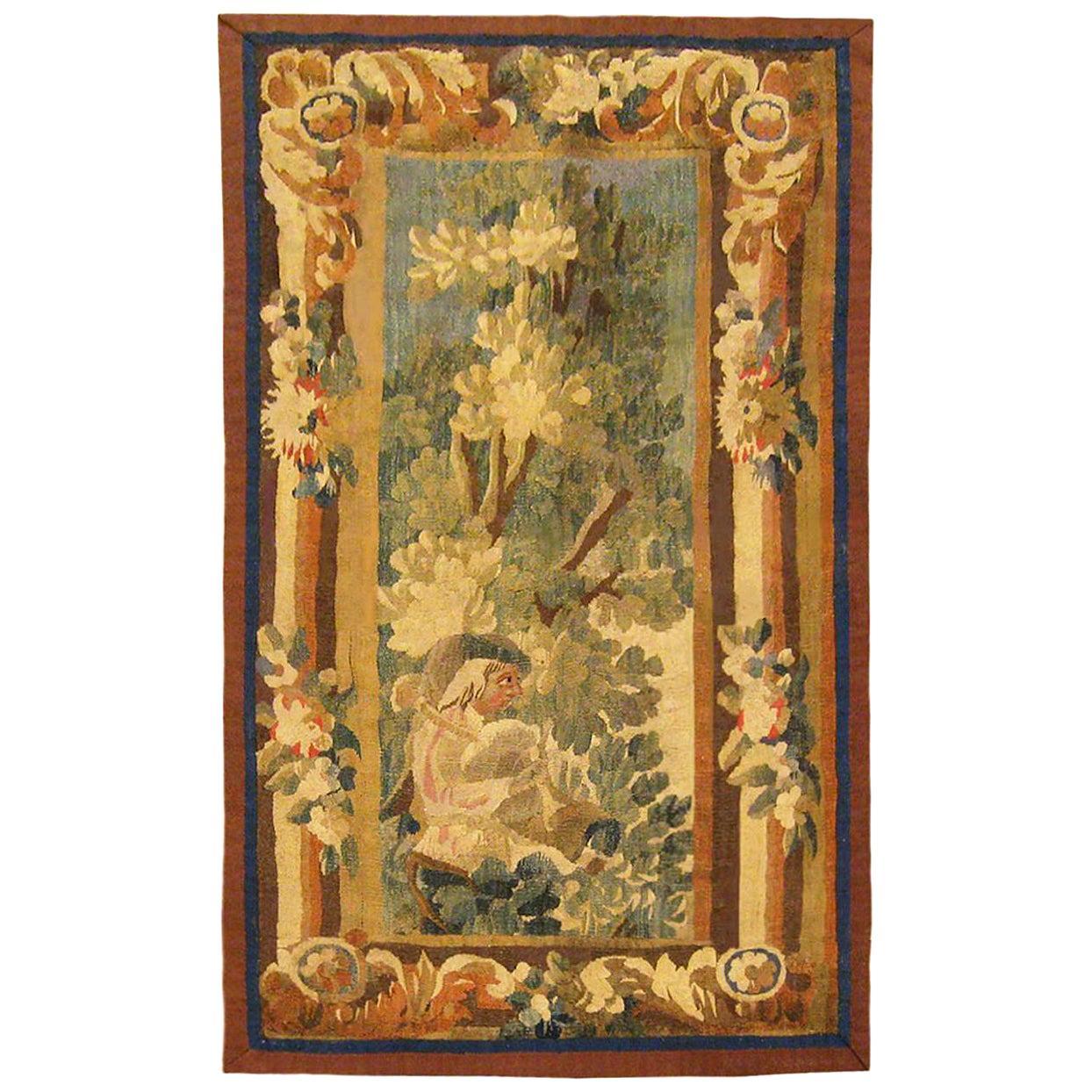 17th Century Flemish Pastoral Landscape Tapestry