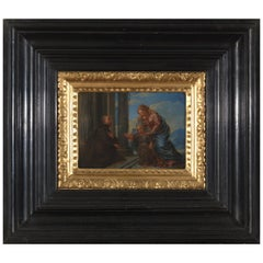 17th Century Flemish Shool 'monogram IG or LG', Maria and Christ, Oil on Panel