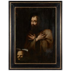 17th Century Flemish Shool, Saint Francis In Extasy, Oil on Oak Panel