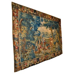 17th Century Flemish Tapestry from the Estate of Baron Munchausen