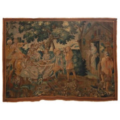 17th Century Flemish Woven Wool Tapestry