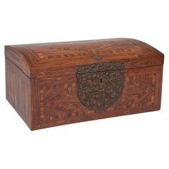 17th Century Franco Flemish Kingwood Marquetry Box