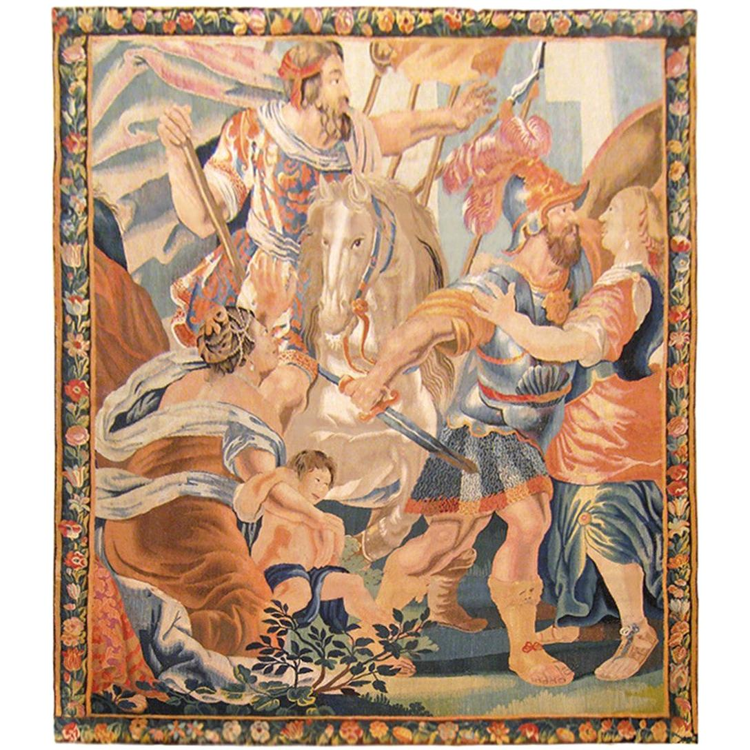 17th Century French Aubusson Historical Tapestry
