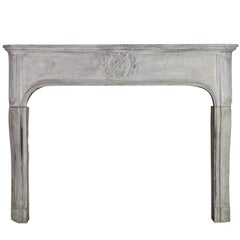 17th Century French Country Marble Hard Stone Antique Fireplace Surround