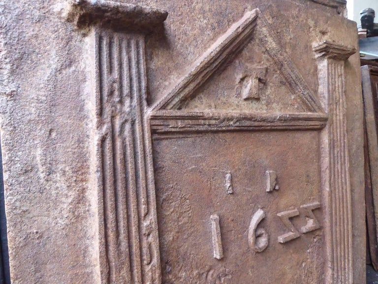 17th Century French Gothic Fireback For Sale 2