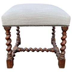 17th Century French Louis XIII Stool
