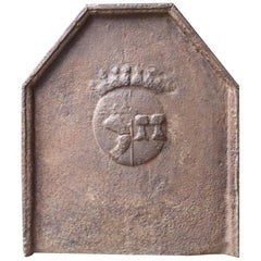 17th Century French Louis XIV 'Coat of Arms' Fireback