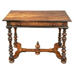 17th Century French Louis XIV Walnut Writing Table
