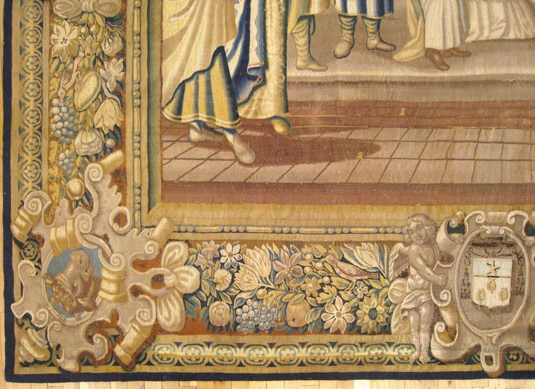 Hand-Woven 17th Century French New Testament Religious Tapestry, Marriage of Mary & Joseph