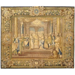 17th Century French New Testament Religious Tapestry, Marriage of Mary & Joseph