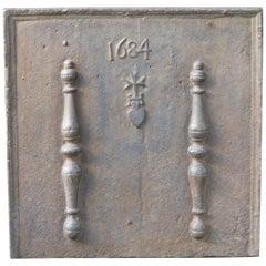17th Century French 'Pillars of Hercules' Fireback