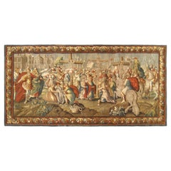 17th Century French Religious Tapestry depicting the Crucifixion of Jesus Christ