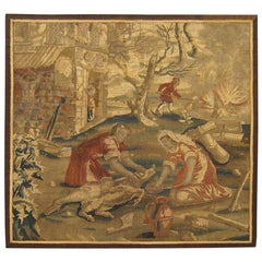 17th Century French Rustic Hunting Tapestry