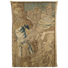 17th Century French Tapestry Fragment on Frame