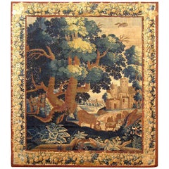 17th Century French Verdure Landscape Tapestry