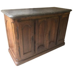 17th Century, French Walnut Louis XIV Period Four Doors Hunting Sideboard