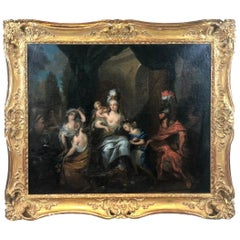 17th Century Gérard De Lairesse, Antique Oil on Canvas Painting Mars and Venus