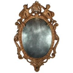 17th Century German Baroque Carved Mirror
