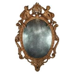 17th Century German Baroque Carved Mirror