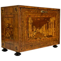 17th Century, German Wood Apothecary Cabinet with Fantasy Architectures
