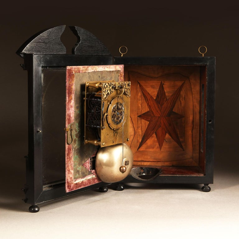 Baroque 17th Century Hague Clock Signed by Pieter Visbagh, circa 1675 For Sale