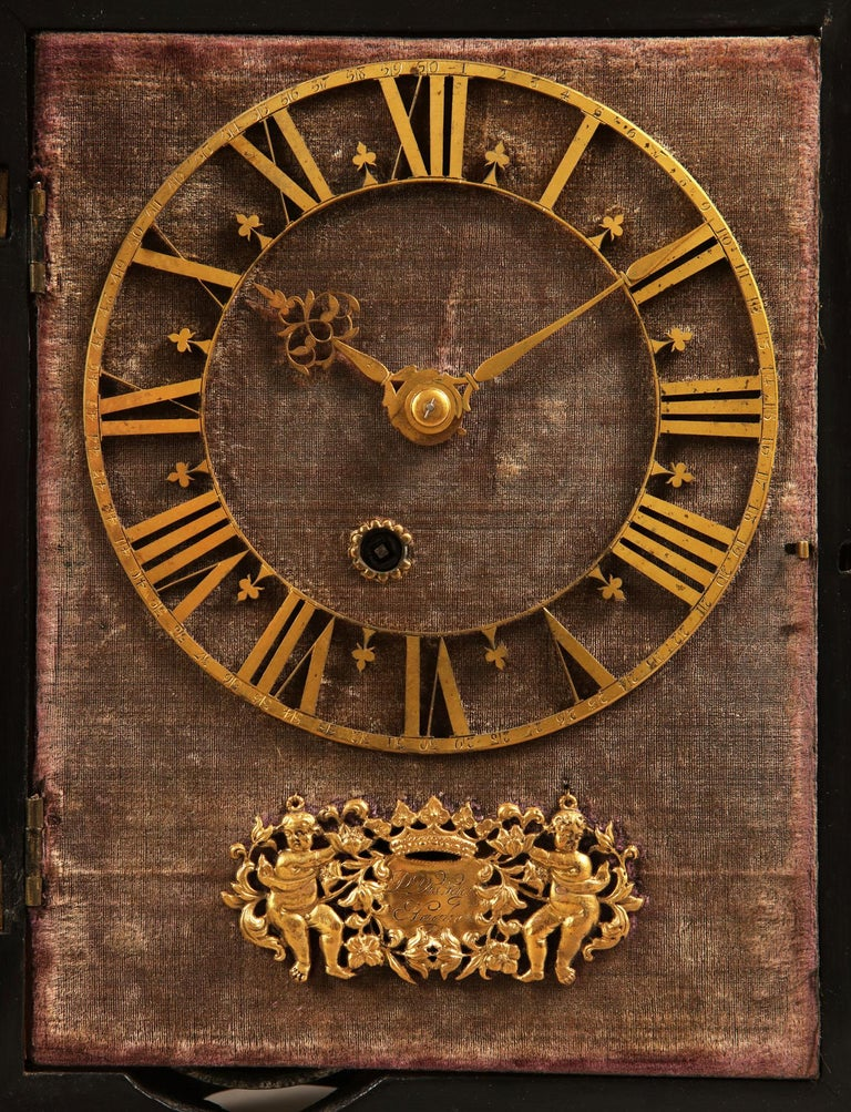 Dutch 17th Century Hague Clock Signed by Pieter Visbagh, circa 1675 For Sale