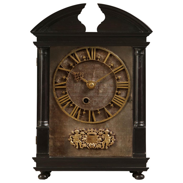 17th Century Hague Clock Signed by Pieter Visbagh, circa 1675 For Sale