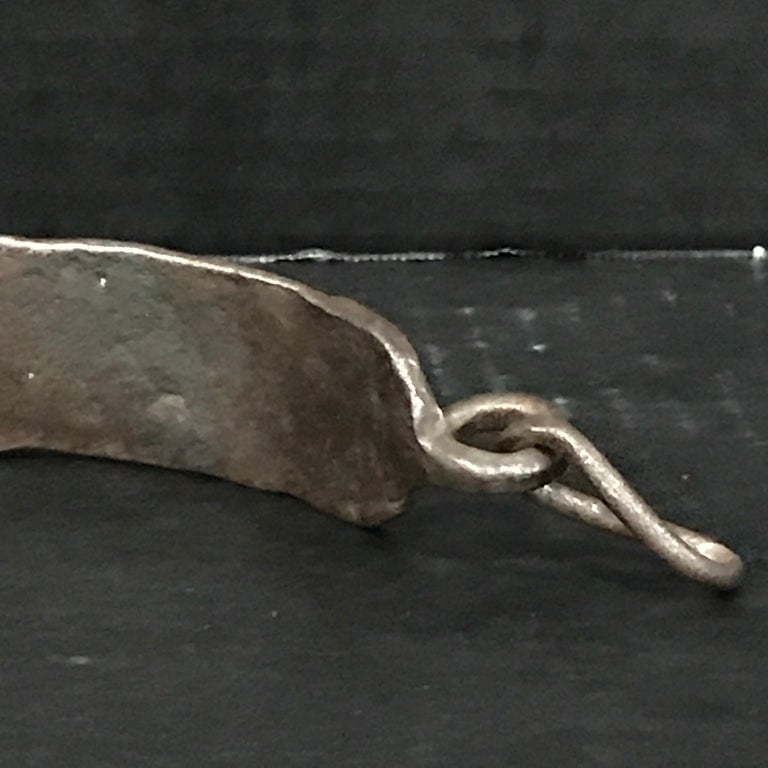 17th Century Iron Dog Collar, Museum Mounted For Sale 7