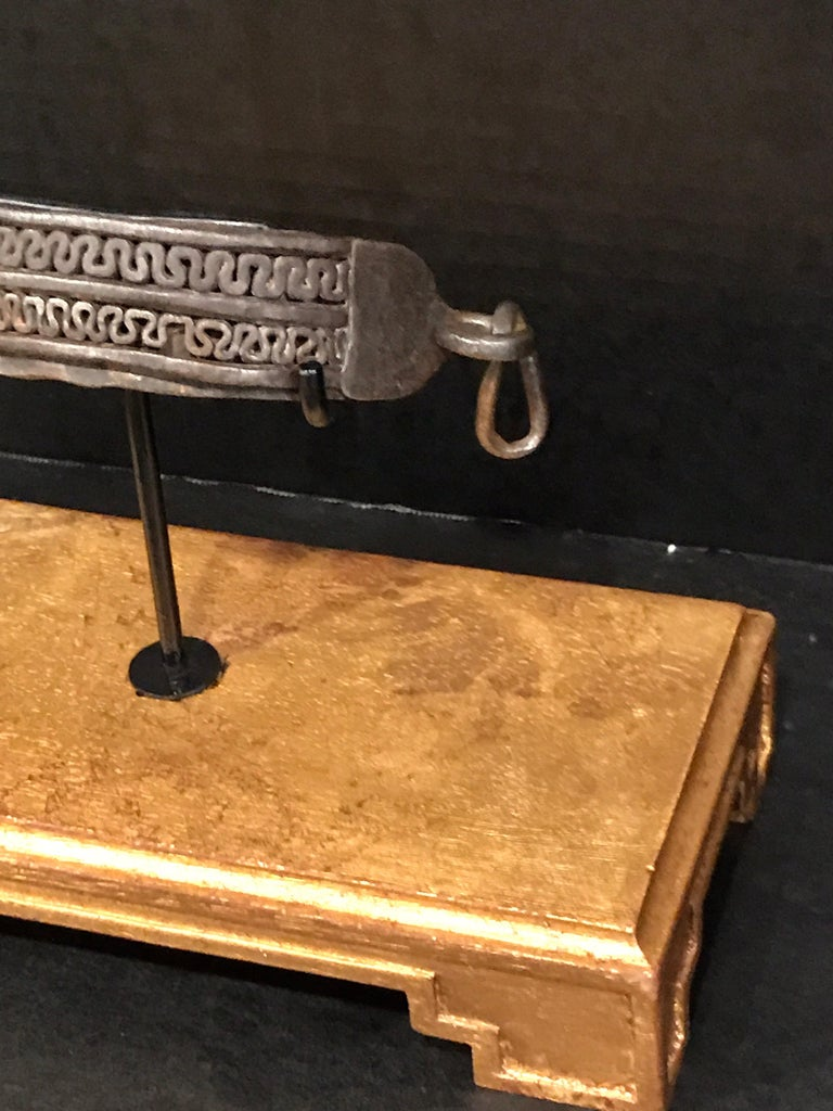 Neoclassical 17th Century Iron Dog Collar, Museum Mounted For Sale
