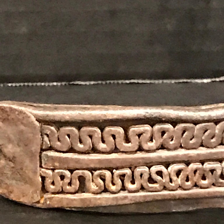 17th Century Iron Dog Collar, Museum Mounted For Sale 3