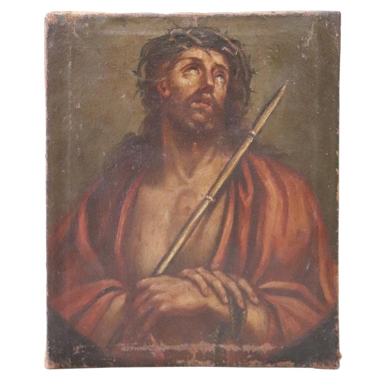 17th Century Italian Artist Jesus with the Crown of Thorns For Sale