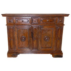 17th Century Italian Baroque Walnut Credenza
