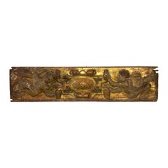 17th Century Italian Carved and Gilt Cherub Boiserie Panel