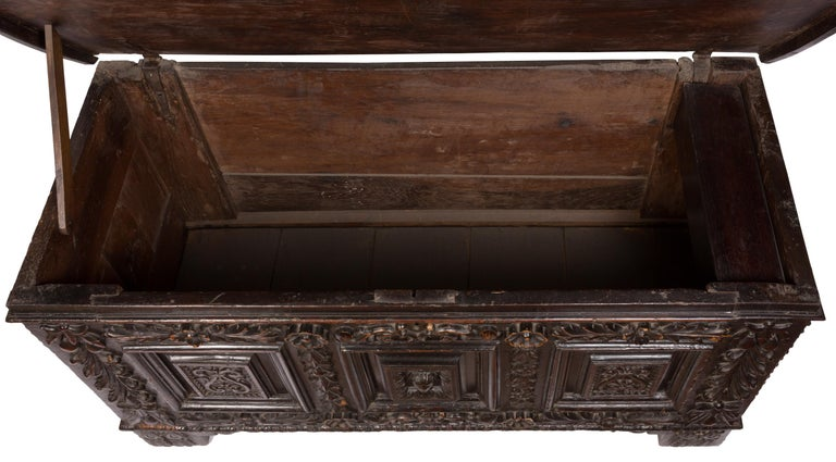 17th Century Italian Cassone Wedding Chest For Sale 1