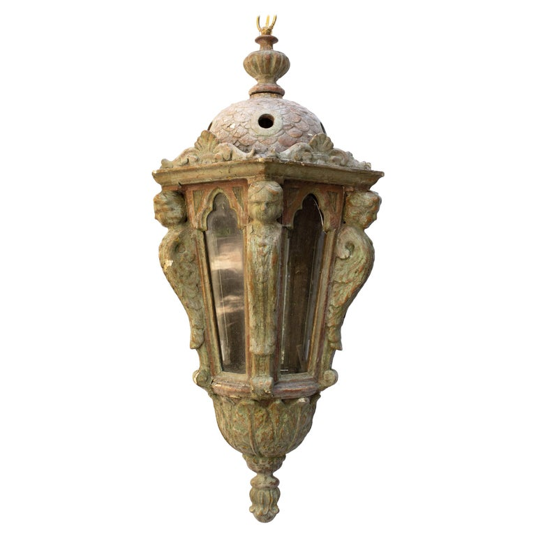 17th Century Italian Electrified Venetian Lantern For Sale
