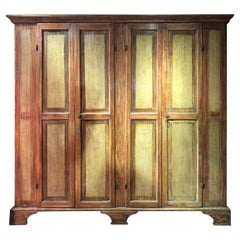 17th Century Italian Four Doors Lacquered Big Shelves Cupboards